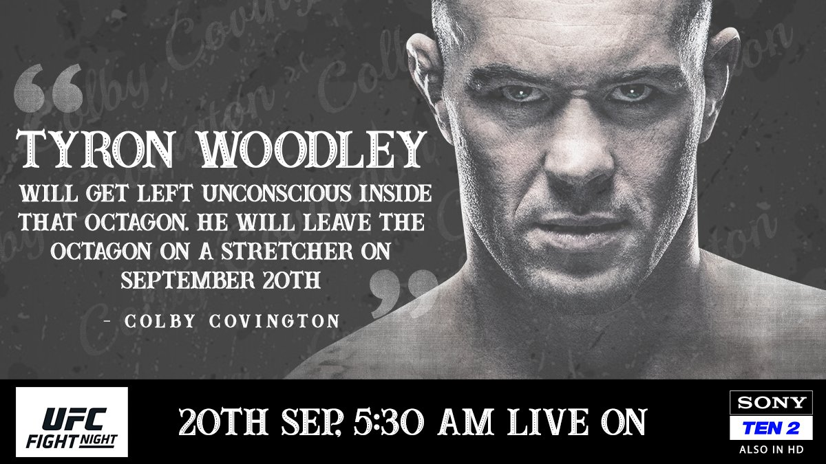 Colby Covington is taking no prisoners this weekend 😳🔥  Watch all the action from #UFCFightNight 178 only on   📺 Sony TEN 2  #SonySports #SirfSonyParDikhega #ufc #UFCVegas #mma #Woodley #Covington #sports https://t.co/mlWokrfWoH