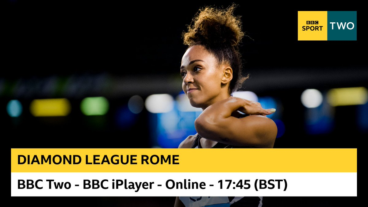 🎽 LIVE ATHLETICS TONIGHT 🎽  We've got live coverage of the Diamond League from Rome this evening. Tune in at 17:45!  Watch on @BBCiPlayer and @BBCTwo: https://t.co/Z7m7s1NXhP https://t.co/xa421T4J9u
