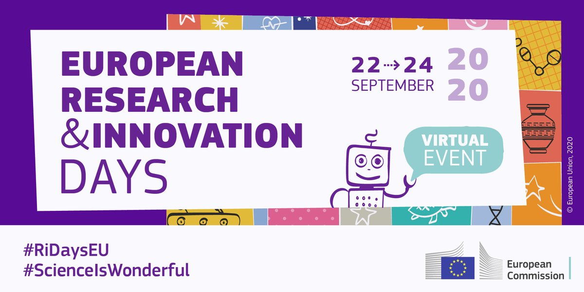 The European Research and Innovations Days 2020 take off tomorrow 👏🏽Don't miss the chance to join the debate on the future research and innovation landscape!  Use the #RiDaysEU hashtag to join the discussion. Learn more about how to participate ➡️https://t.co/rjxjGiZWi2 https://t.co/SC9mxiBGR1