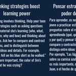 Image for the Tweet beginning: Thinking strategies boost learning power