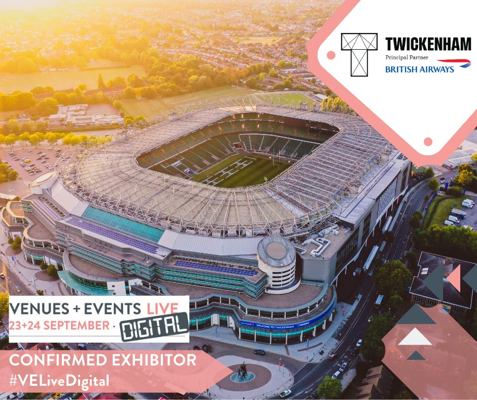 Twickenham Stadium, home of England Rugby is the ultimate destination to host events with its impressive portfolio of 34 creative event spaces, truly unique surroundings, onsite Marriott hotel and complimentary parking. Register at #velivedigital 23/24 September to meet the team https://t.co/0i6qu1DPKn