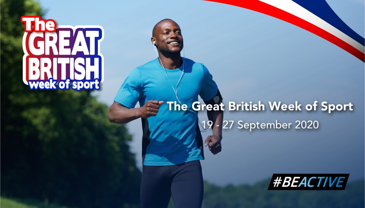 The Great British Week of Sport - 19th - 27th September. How are you going to get active? Great British Week of Sport  #Beactive #Sport #Activity #Fitness #University #students #healthy #activecampus https://t.co/t0cT7PCmcX