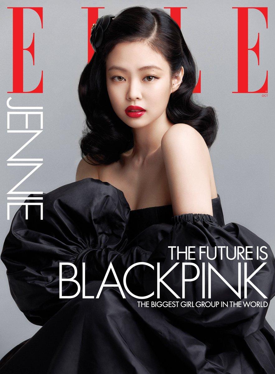 #광고 #JENNIE is on the cover of ELLE US! Head to @ellemagazine at 8AM EST to see the group cover. https://t.co/O08rJg59i5