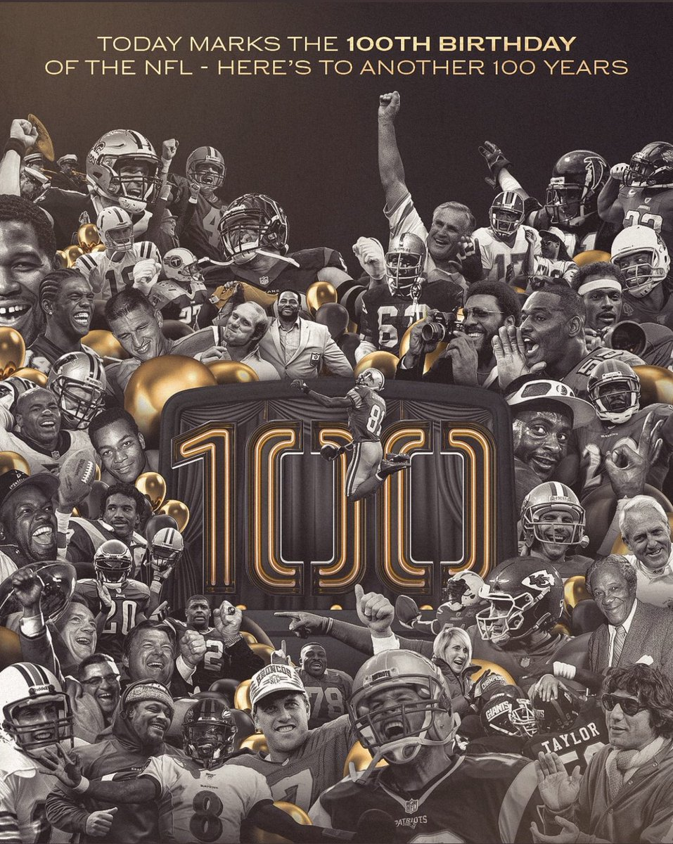 Happy 100th birthday today to the @NFL.