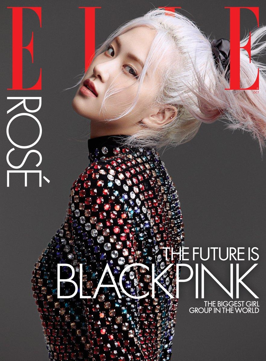 #광고 #ROSÉ is on the cover of ELLE US! Head to @ellemagazine at 8AM EST to see the group cover. https://t.co/1fKm89TfK6