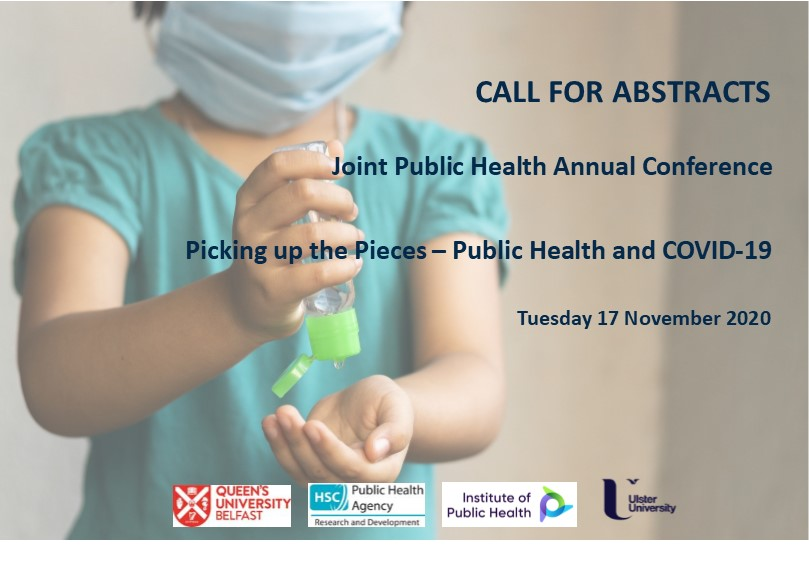 """Abstract submission now open for the Joint Public Health Annual Conference """"Picking up the Pieces – Public Health and COVID-19""""   Tuesday 17 November 2020 Please submit abstracts here: https://t.co/hQqoRQgA5V  #Livewebconference #JointPublicHealthAnnualConference https://t.co/8N2UNafm02"""