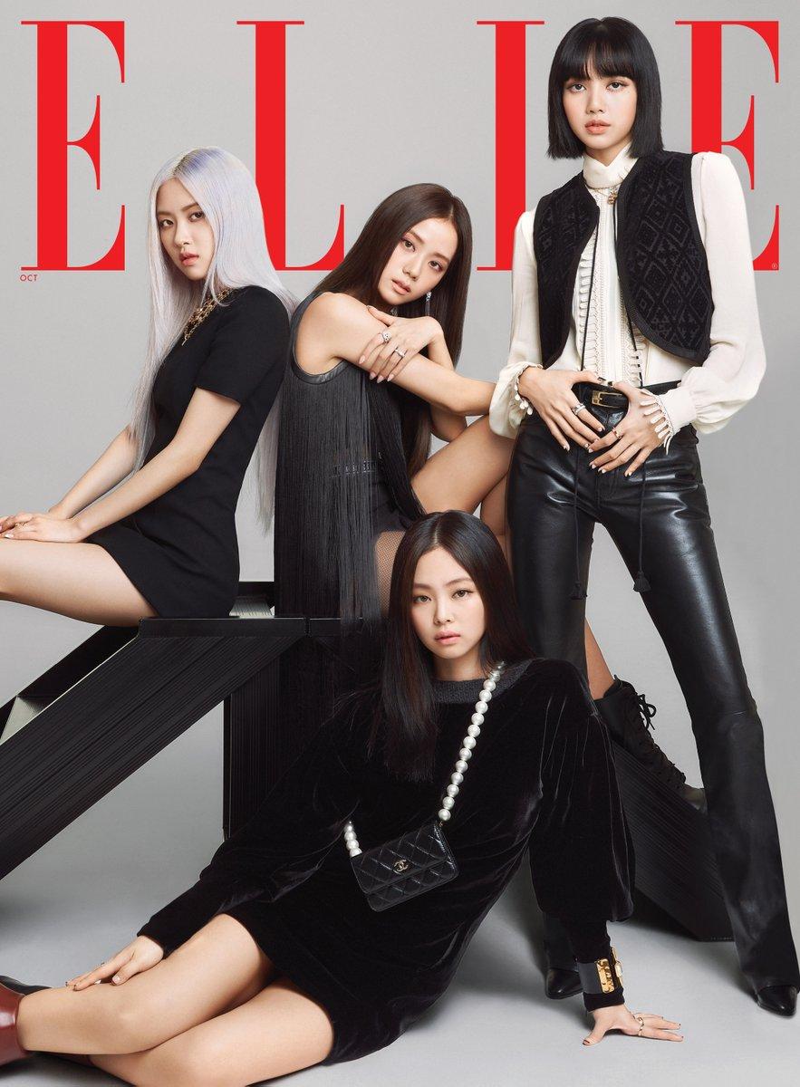 #광고 #BLACKPINK is on the cover of ELLE US! Head to @ellemagazine at 8AM EST to see the group cover. https://t.co/orh4ARqp6y