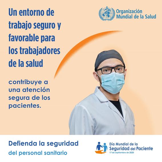 17 de septiembre, Día Mundial de la seguridad del paciente y seguridad del personal sanitario.  #SeguridadDelPaciente #DíaMundialdelaSeguridaddelPaciente https://t.co/yufzD6VWha