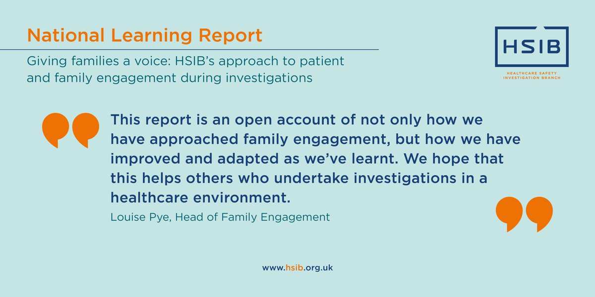 HSIB's @louisepye5 talks about the importance of learning, adapting and sharing when it comes to #familyengagement 👇 Find out more about our national learning report in our latest news story >> https://t.co/grSk2Hr0lu #patientsafety #patientinvolvement https://t.co/Anp9AroFdV