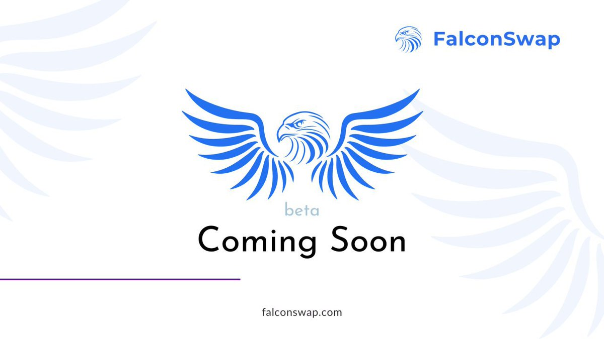 FalconSwap is getting ready to fly! 🚀🚀  We have completed the development of major components and are now heading to final integrations and alpha testing before releasing it on testnet. 🔥🔥  Stay tuned for our next announcement 👀 https://t.co/JytNZiRF1n