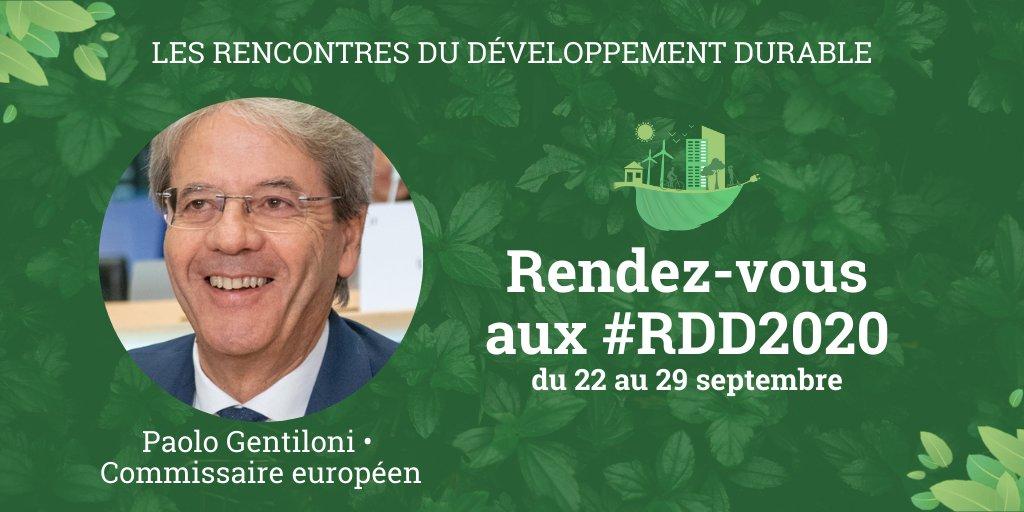 """Les #RDD2020 seront aussi l'occasion d'accueillir @PaoloGentiloni Commissaire européen aux @ecfin, à la @EU_Taxud, ainsi qu'ancien Président du Conseil des ministres d'Italie !   ⏰ 25/09 📢 """"Pour relancer de manière durable l'économie européenne"""" ➡️ https://t.co/HLnKwKZxG3 https://t.co/QpWas7QtTo"""