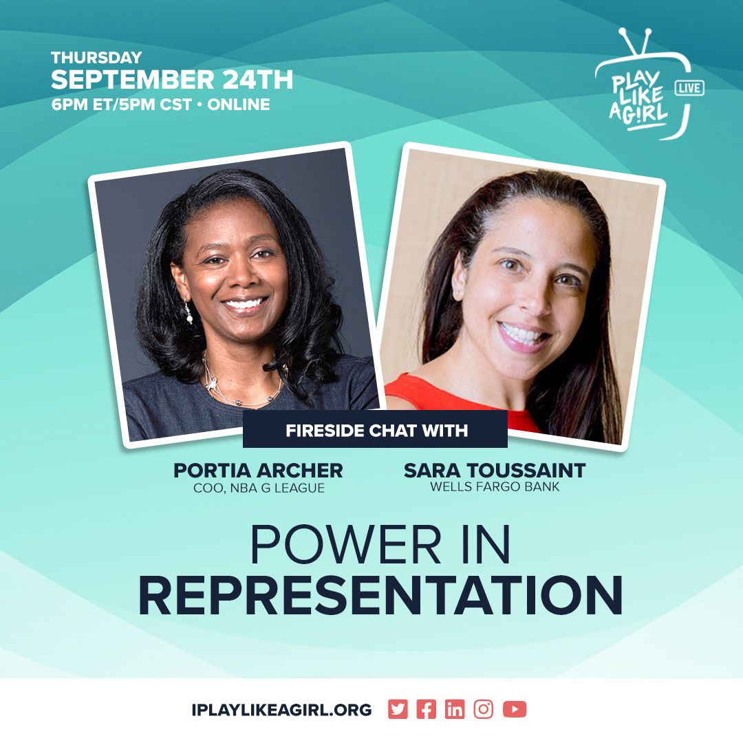 We're hosting a fireside chat with Portia Archer, Chief Operating Officer of the @NBA's G League & PLAG Board member @SaraToussaint. Portia will be sharing lessons from the basketball court to the boardroom.   Plus, we talk social justice NOW!  RSVP at https://t.co/EiSCZyabMw. https://t.co/Udn1SEgzTd