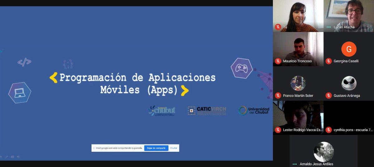Continúa exitosa #capacitación para programar #aplicaciones aplicaciones de #celulares 👩💻📲 📱Participan más de 100 jóvenes #chubutenses #programacion  #UnPasoMás 👉https://t.co/mVWabA5sSY https://t.co/EzLcumVi5O