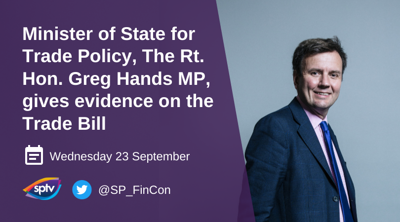 Tune in on Wednesday to see our Evidence session on the Trade Bill with @GregHands Minister of State for Trade Policy @tradegovuk  You can watch here: https://t.co/gwVcPIgazm https://t.co/tl4BrjvGT7