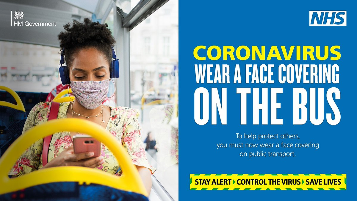 You MUST wear a face covering if you are on public transport.  Unless you have a health related reason not to, you must wear a face covering to protect others from the spread of infection.   Read where you should wear one 👉🏻 https://t.co/NHzD7CeBet  #GotItCovered https://t.co/nkyteA2qi2