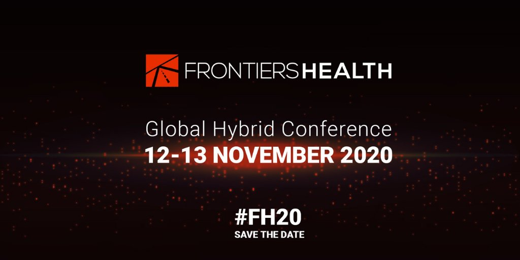 Save the date! @FrontiersHealth 2020 Global Hybrid Conference happening on Nov 12-13. #FH20 will cover great topics like #Digitaltherapeutics #Patient-centricity, Scientific #clinical validation & more.  Register here: https://t.co/vAyFXARuwz  #digitalhealth #Innovation #DTx https://t.co/xHRJvTcnIA