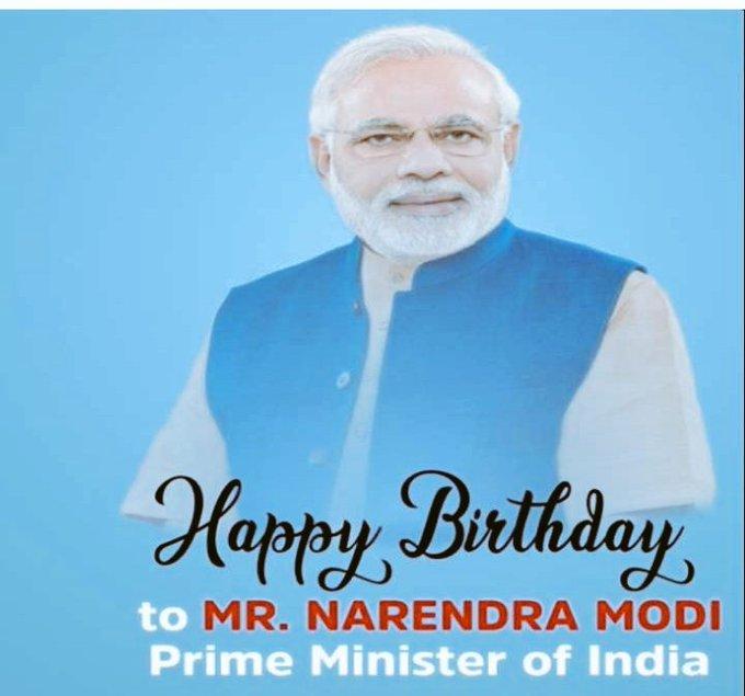 Happy Birthday  our priminister Narendra Modi