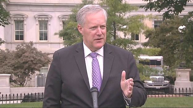 Chief of Staff Mark Meadows says WH aiming to have 100 million doses of Coronavirus vaccine ready to go by end of October. Says goal is to make the the most vulnerable and highest risk people are vaccinated in that first group. Says up to 300 million doses would be ready in Jan. https://t.co/7YHttsd5au