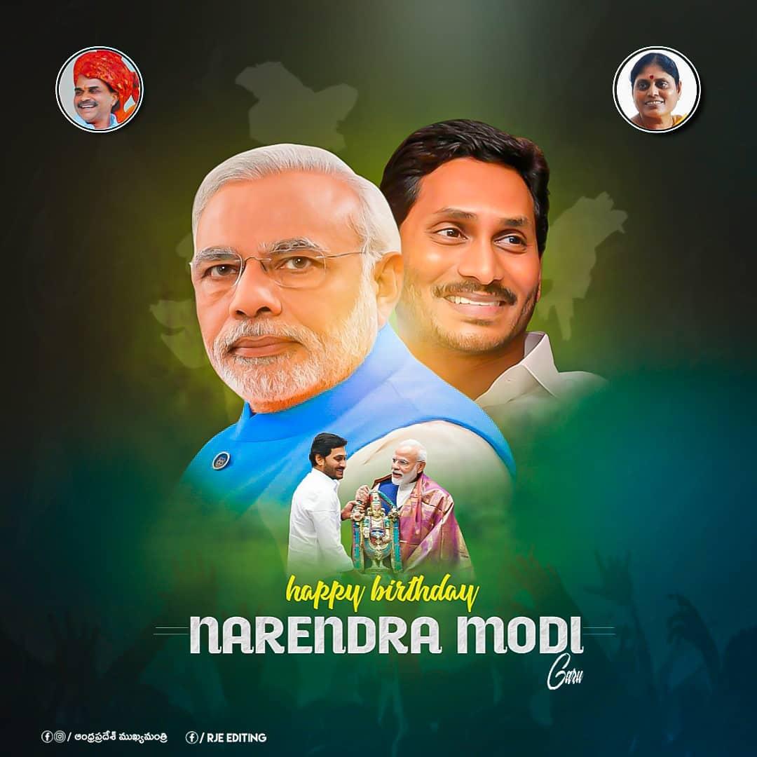 @narendramodi @ysjagan Many More Happy Returns of the Day Shri Narendra Modi Ji 💐🎂🎉 May God bless You...