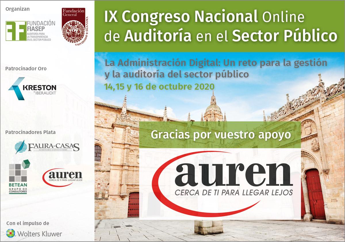 ¡Muchas gracias por vuestro apoyo @Auren_Spain como Patrocinador del IX Congreso Nacional de #Auditoría en el #SectorPúblico! Infórmate👉https://t.co/vzemnAC8xI  #congresofiasep #controlinterno #éticapública #AAPP #ayuntamientos #gestiónpública https://t.co/G1OSm6AFR0