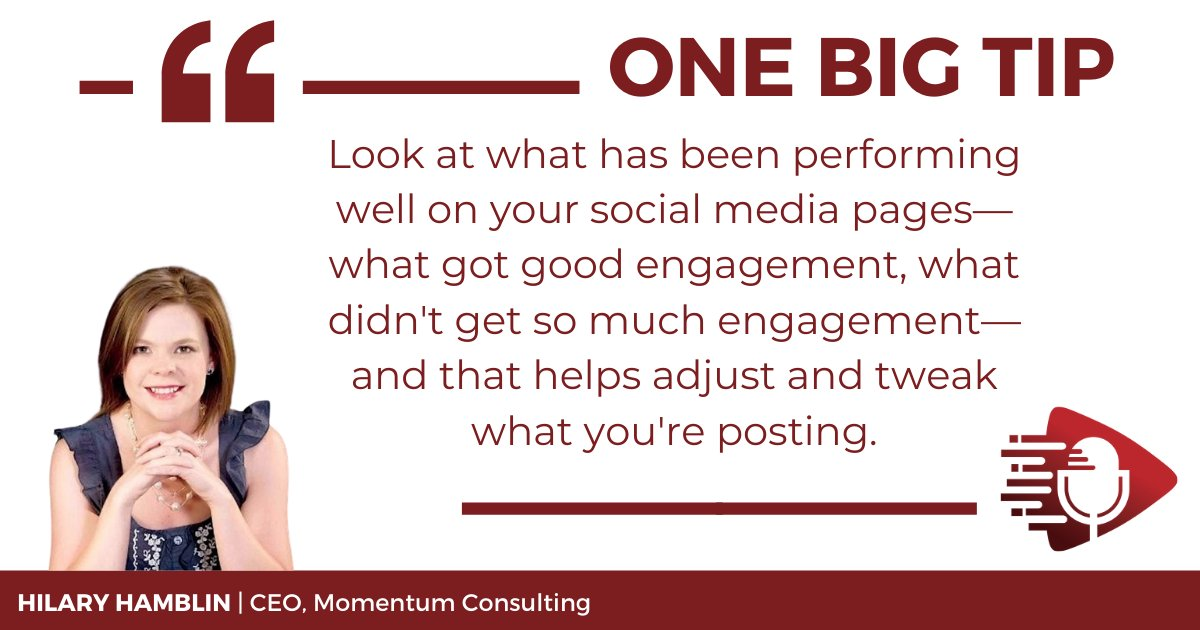 One of the most crucial aspects of social media is exercising tact. Understanding your audience is key to getting the right message to the right person at the right time. Learn how to create your #socialmedia strategy on #OneBigTip podcast E58 https://t.co/UUJ1g2XUkF https://t.co/CgViRjlKaE