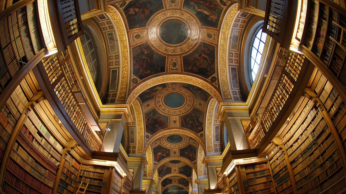 Image for the Tweet beginning: La Bibliothèque de l'Assemblée nationale