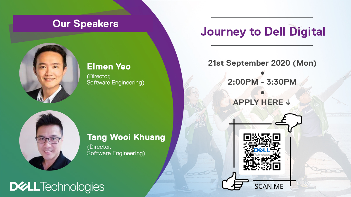 📢 Calling all students & recent graduates in Malaysia!  REGISTER for our upcoming webinar, 'Journey to Dell Digital' on Sep 21st from 2PM to 3:30PM. We will be introducing our Digital org., IT Development Program and Hack to Hire recruitment process. https://t.co/LwO71VEd3X https://t.co/ySbi16fFY2