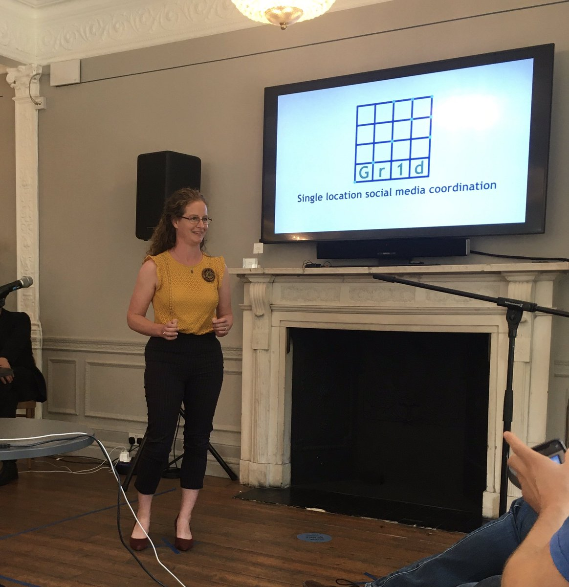Our CO is at @PUBLICHallUK today attending her graduation from the #PercyHobartFellowship innovation programme. Some great pitches, lots of innovative ideas out there. #RNInnovation