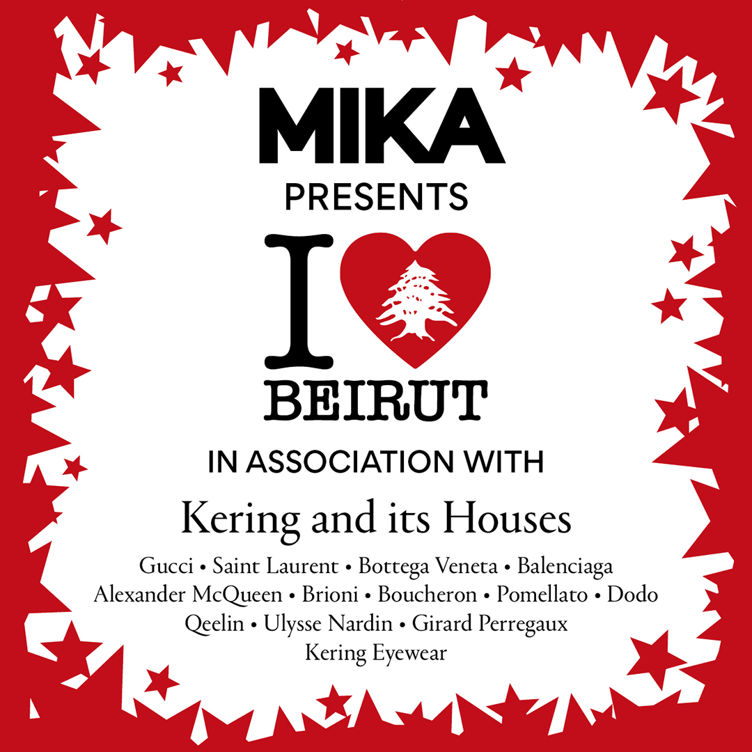 Kering and its Houses unite to support « I ❤️ Beirut », a benefit concert initiated by @mikasounds, which will be performed on Saturday 19 September and will be live-streamed via YouTube. Buy your tickets here : https://t.co/z5x7cfvPYt   #I❤️Beirut https://t.co/xne0QpcKhP