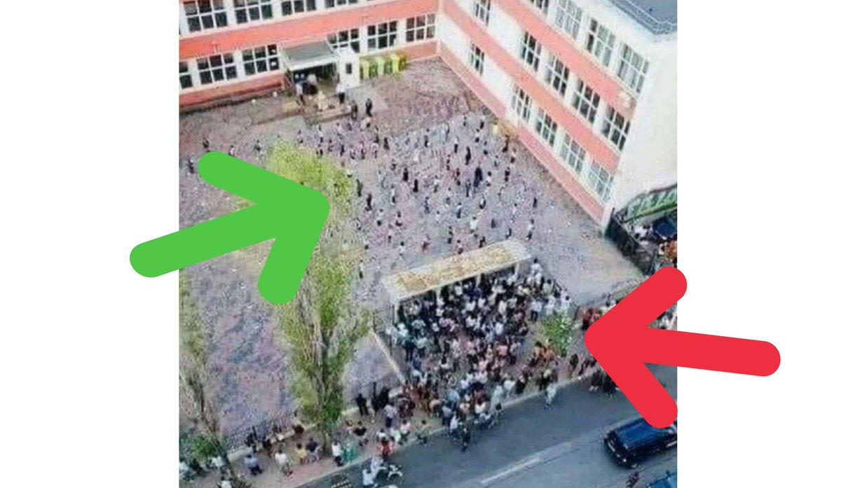 Esta imagen de un colegio (dentro y fuera) sirve para entender muchas cosas de esta #pandemia https://t.co/ewO5NMMfOv