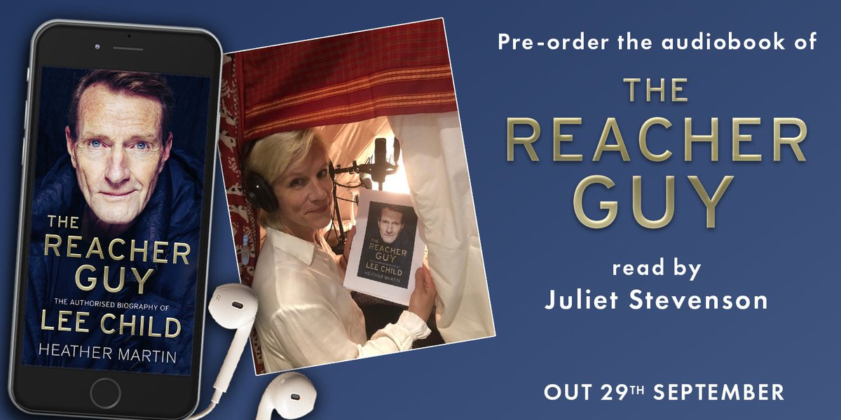 Announced today, Juliet Stevenson is the voice behind the audiobook of The Reacher Guy, publishing 29th September.