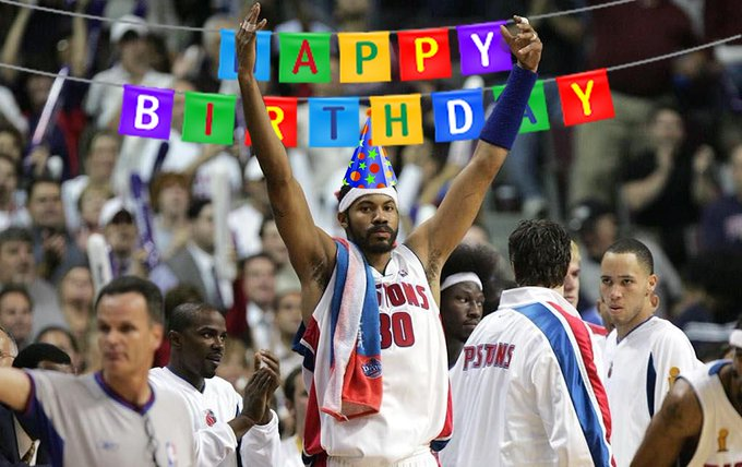 Our king, our guiding light, our favourite person on the planet.  Happy 46th birthday, Rasheed Wallace.
