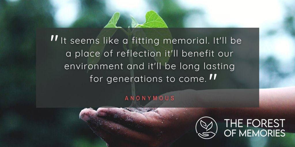 😍 What our supporters say... Please retweet and follow our page to find out more 👍  https://t.co/BwEZeEIFeP  #ForestOfMemories #MemoryTrees #GreenRecovery #Covid19Memorial 🍂🌲 https://t.co/i9h4sPCemz