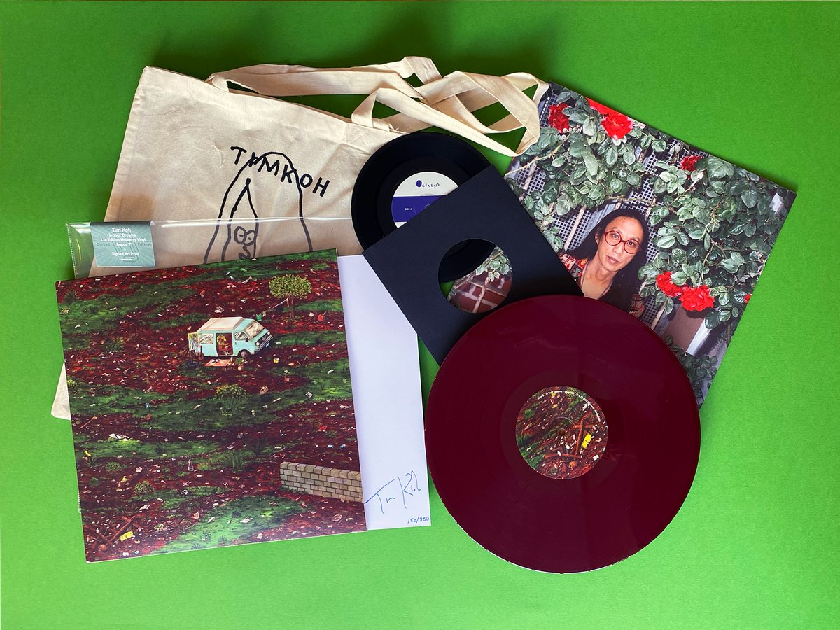 """CONGRATS to the multi-talented TIM KOH (@lamaraba). 'In Your Dreams' is ace & out today via @Tim_Burgesss @ogenesisrecords #DinkedEdition 59 + Mulberry LP* + 7"""" - 2 bonus trks* + Signed & Numbered Print* + Tote bag* + LTD to 350 *exclusive dinkededition.co.uk/tim-koh-in-you… @ROMBrighton"""