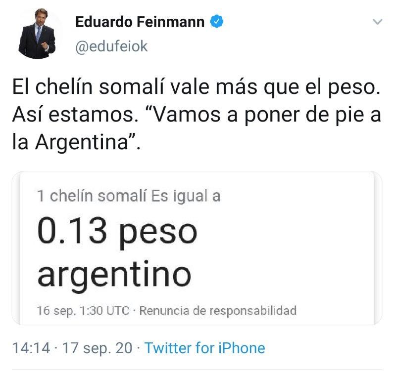 """Por qué es tendencia? on Twitter: """"""""Feinmann"""": Por el tweet que publicó  @edufeiok… """""""
