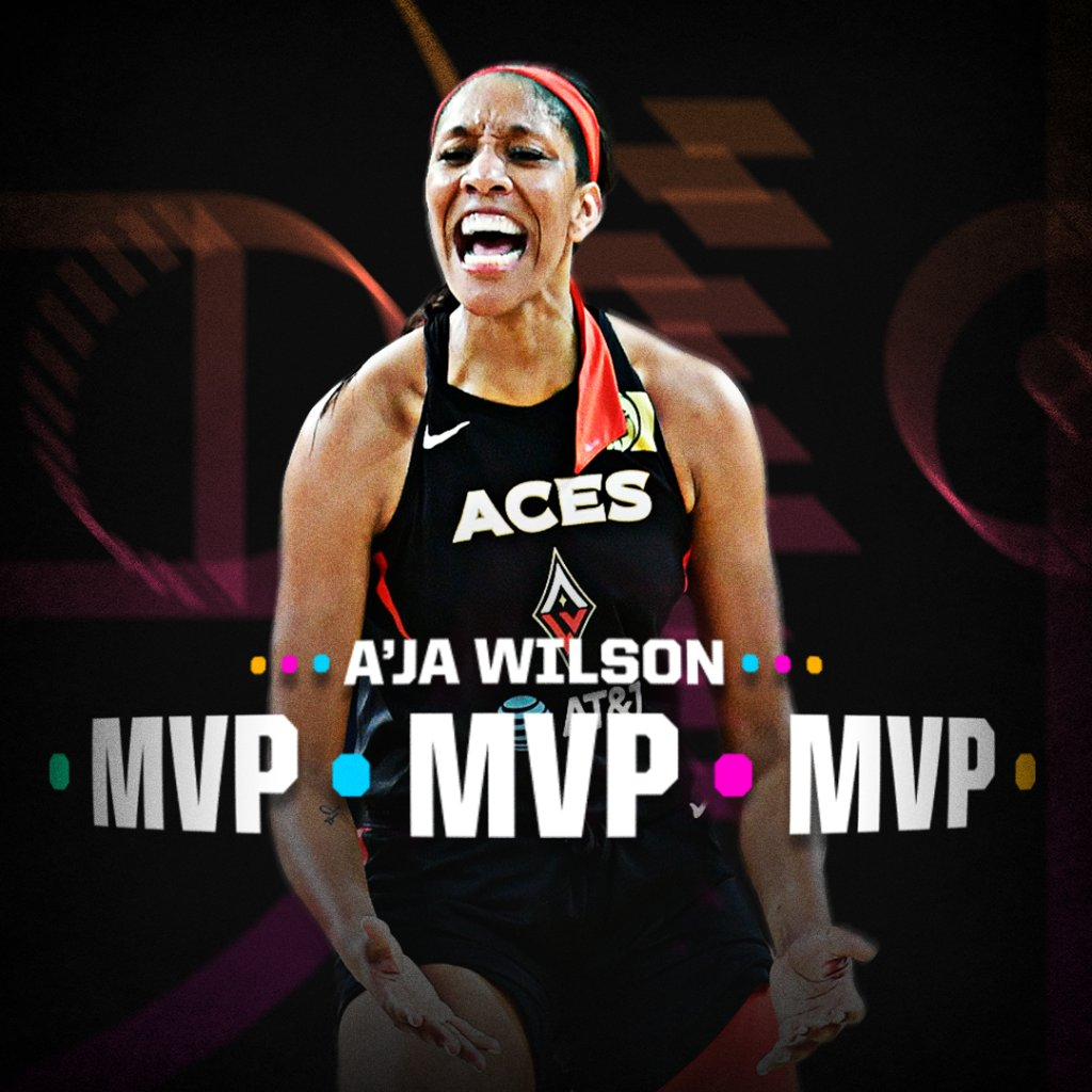 A'ja Wilson is your WNBA MVP! 👏 @espnW https://t.co/CJKKcO3gPF