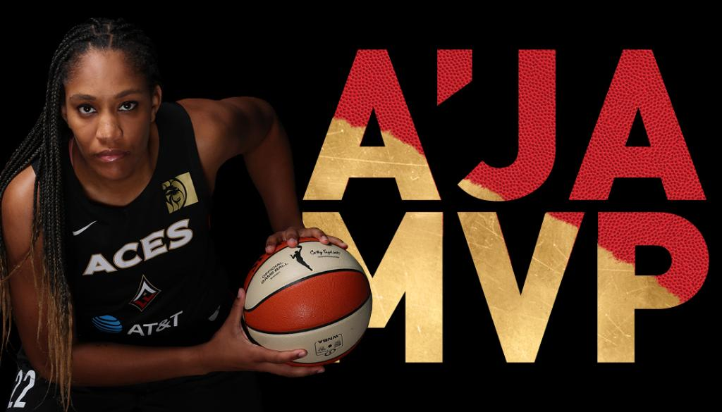 𝗠 𝗩 𝗣!  A six-four forward from South Carolina, your 2020 @WNBA Most Valuable Player, A'JA WILSON!!!   Congratulations @_ajawilson22! 🙌👏  #ALLIN ♦️♠️ https://t.co/51nE9KHHWg