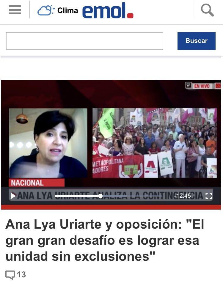 Hoy #emol haciendo campaña con Ana Lya Uriarte, la misma señora que trato de mala persona a #joseantoniokast, la misma amiga de Bachelet que dio su Factura No 3 a Caval...., Que les pasa Emol, tambien tienen miedo? https://t.co/6h6SX2zuzQ