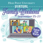 HPU's Family Weekend is 𝘃𝗶𝗿𝘁𝘂𝗮𝗹 this year! 💻 Save the date for next weekend, September 25-27, 2020, and stay tuned for more details regarding the schedule! Most events and activities will be able to be done at any time. #HPUFamilyWeekend https://t.co/EvsHsZ6SVM