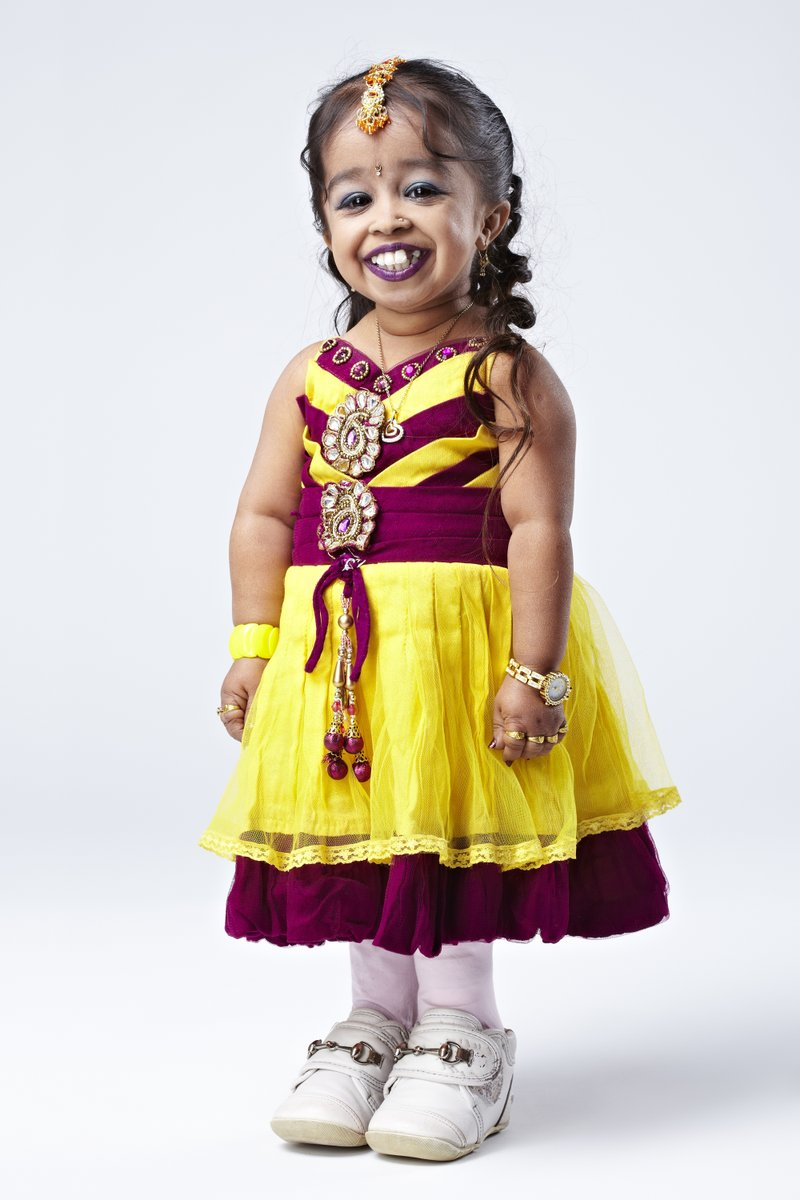 @gladman70 Page 77 features one of our favourites, Jyoti Amge, who is the world's shortest woman at 62.8cm!