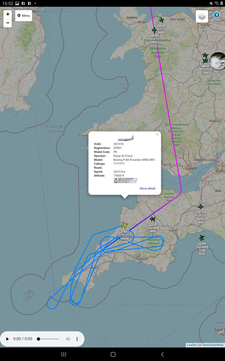 Over @cornwall today #ZP801 @CXX_Squadron @RAFLossiemouth @Kinloss_Bks #teamlossie   @air_intel @AirAssets @planesonthenet https://t.co/3IbLh1KvT9