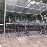 Image for the Tweet beginning: Cycle storage at @WestMidRailway Droitwich