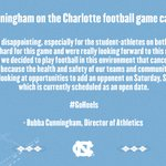 Image for the Tweet beginning: Statement from Bubba Cunningham about