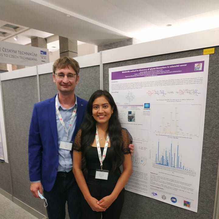 Well done Juvissan Ariza and Paras Kundalia! Our 2 ESRs in Slovakia both had abstracts accepted for poster presentation at the 72nd Congress of Czech and Slovak Chemists https://t.co/N6cvyzrCpL Read more https://t.co/BOwYiNl72W @AkademiaVied @MSCActions #glycobiology #phdlife https://t.co/z510FfEIgY