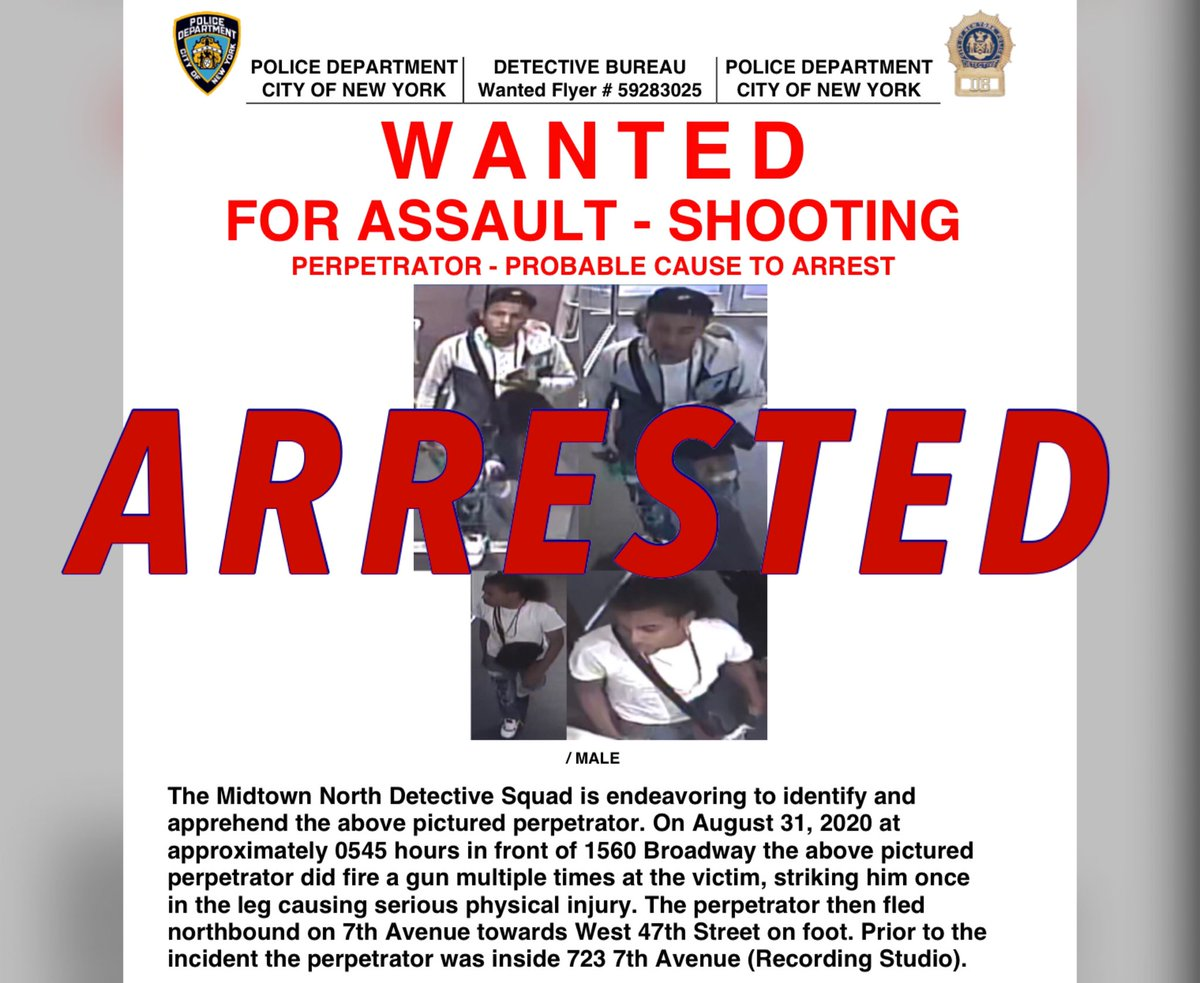 Thanks to the relentless work of @ManhattanDA, @NYPDMTN investigators, & eagle-eyed @NYPD46Pct cops, David Krecmajer has been arrested and charged with attempted murder for an Aug. 31 shooting in Midtown.  Outstanding job by all involved in this investigation! https://t.co/vfvBh63y68 https://t.co/kEGtwsfwGH