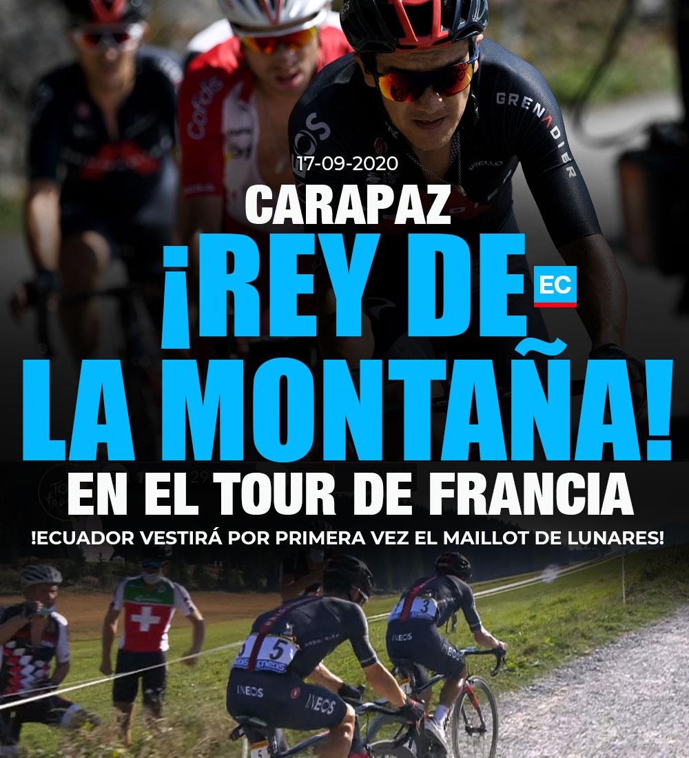 !AGIGANTA SU LEYENDA! 🚂🚴🏽♂️🇪🇨👏🏼😃 Richard #Carapaz se consagra líder de la montaña y será el primer ciclista ecuatoriano en ponerse un Maillot en el #TourDeFrancia » https://t.co/efTAAAoump https://t.co/tuM5EWcKUo