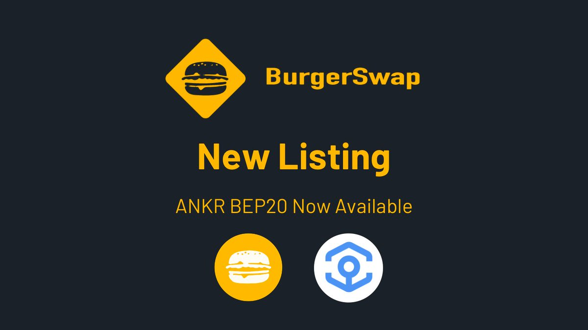Yummy😋 $ANKR BEP20 is now available for trading on @burger_swap 🍔 #ANKR $BURGER