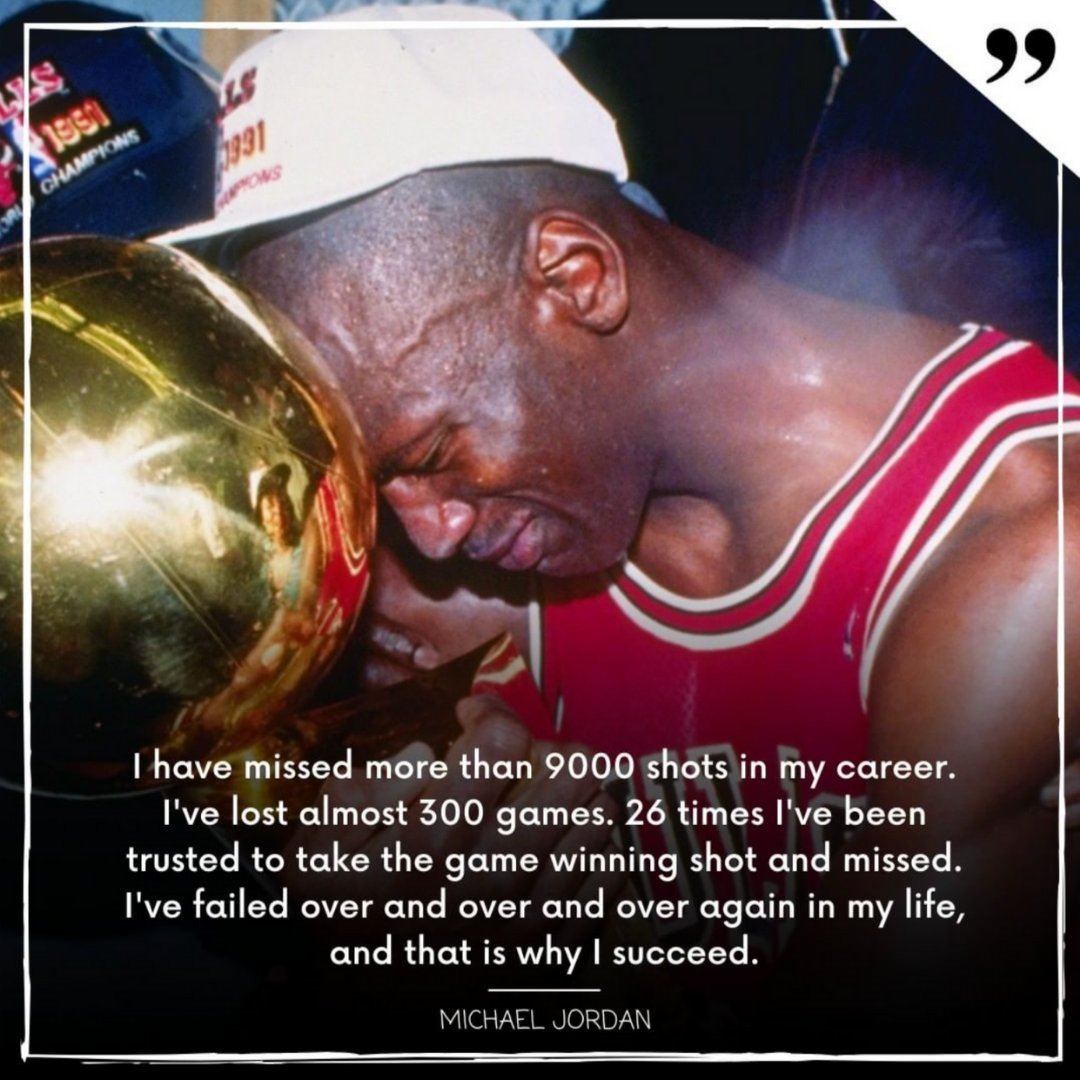 """I've failed over and over and over again in my life, and that is why I succeed"" - Michael Jordan  Tag a friend who needs a reminder that okay to #fail.  It's what you do after is what counts.    #UndisputedCustomUniforms #determination #basketballquotes https://t.co/BuiIaqkuI2"