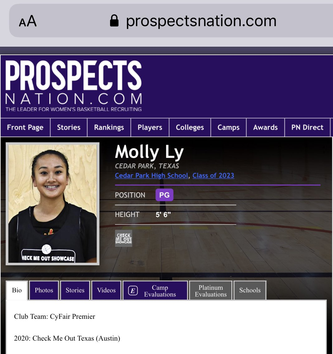 Brandon Clay College Recruiting Profile: #BClayRecruiting x @bclayrecruiting  '23 PG Molly Ly (TX) of Cy Fair Premier was on point at our Austin Academy.  I'll be back in early December.  Cal Northridge is tracking her play.  GET YOUR RECRUITING PROFILE: https://t.co/tYNfZLbdO2 https://t.co/V0aM3njfKG