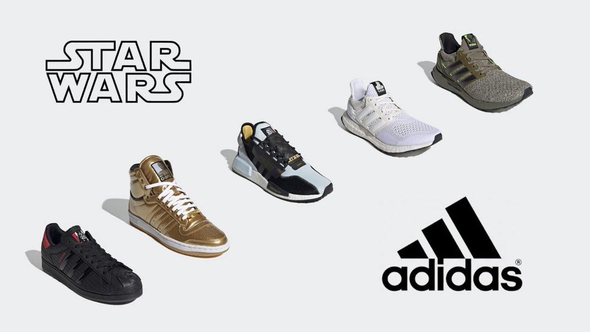 #Adidas lanzará esta colección de tenis basada en #StarWars. Estará disponible para que los adquieras a partir del 21 de octubre 👟¿Te gustan? https://t.co/Fz7MnnFxu0